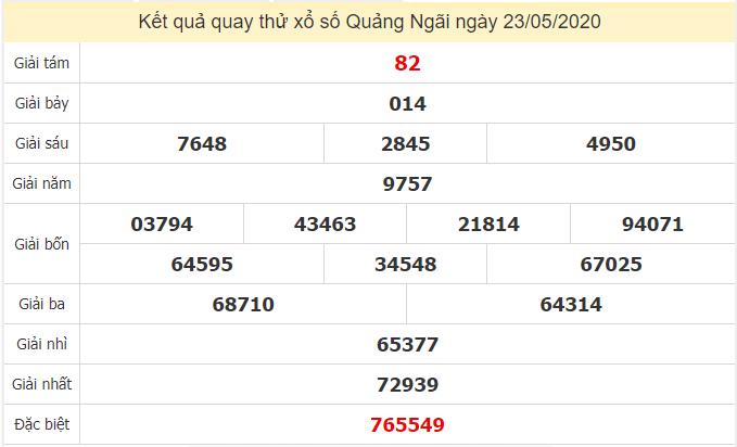 Quay thử kết quả xổ số tỉnhĐắk Nông ngày 23/5/2020