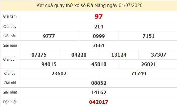 Quay thử kết quả xổ số tỉnhĐà Nẵng ngày1/7/2020