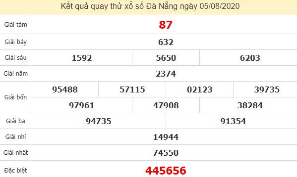 Quay thử kết quả xổ số tỉnhĐà Nẵng ngày 5/8/2020